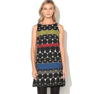 Desigual Shift Dress Black White Circle Stripes